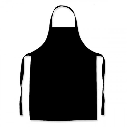 Black Polycotton Apron 58x78cm