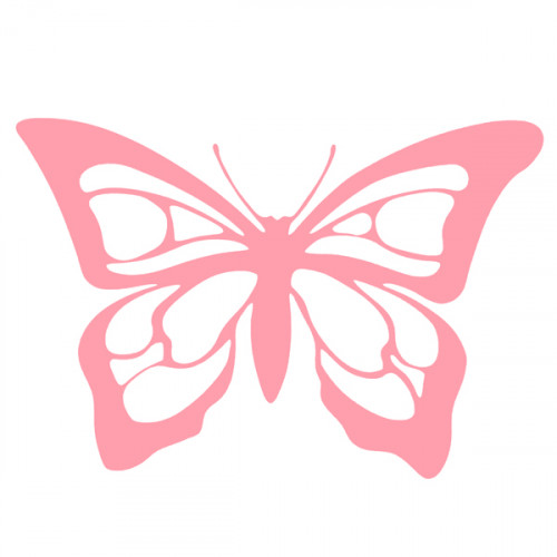 Baby Pink Iron on Butterfly 10x7cm