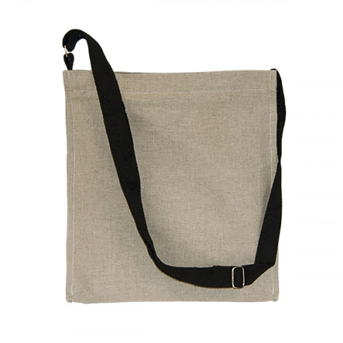 Natural hemp/cotton Carryall 32x36x5cm crossbody strap + zip