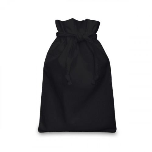 Black cotton Double Drawstring Bag 20x28cm