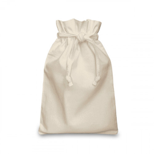 Natural Cotton Double Drawstring Bag 20x28cm