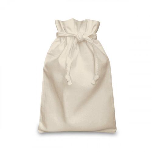 Natural Cotton Double Drawstring Bag 20x28cm