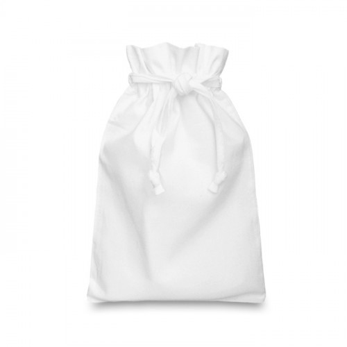 White cotton Double Drawstring Bag 20x28cm