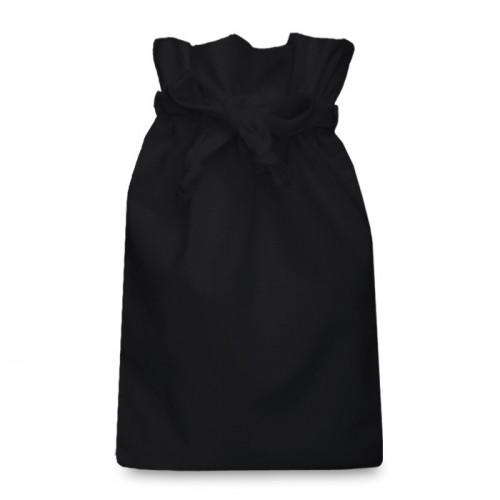 Black cotton Double Drawstring Bag 25x36cm