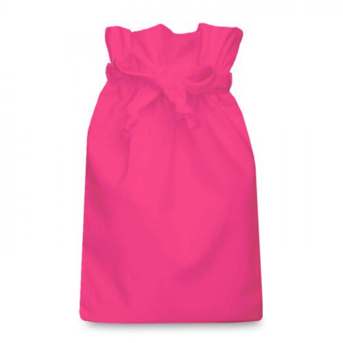 Raspberry cotton Drawstring Bag 25 x 36cm