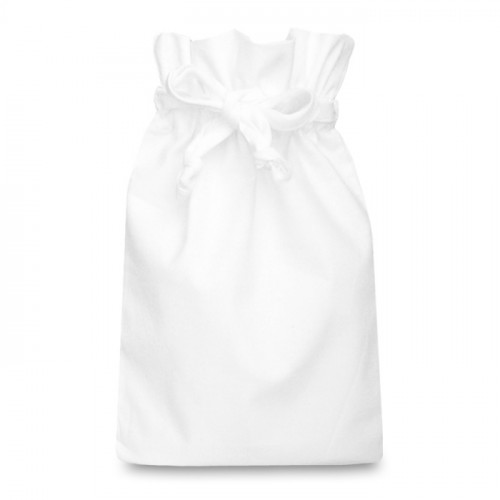 White cotton Double Drawstring Bag 25x36cm