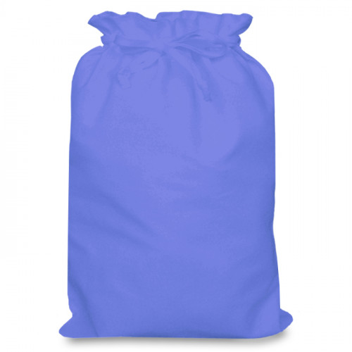 Cornflower cotton Drawstring Bag 30 x 44cm