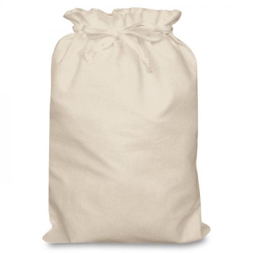 Natural Cotton Double Drawstring Bag 30x44cm