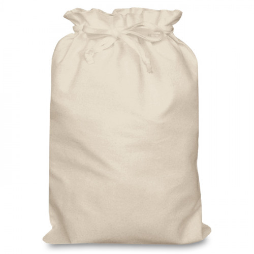 Natural Cotton Double Drawstring Bag 30x44cm