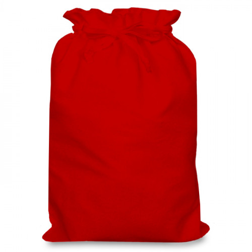Red cotton Double Drawstring Bag 30x44cm