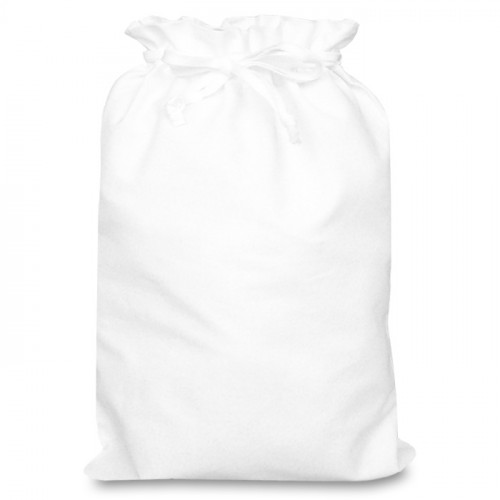 White cotton Double Drawstring Bag 30x44cm