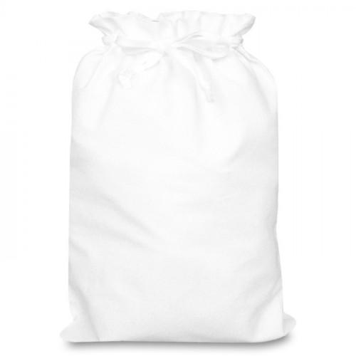White cotton Double Drawstring Bag 30x44cm