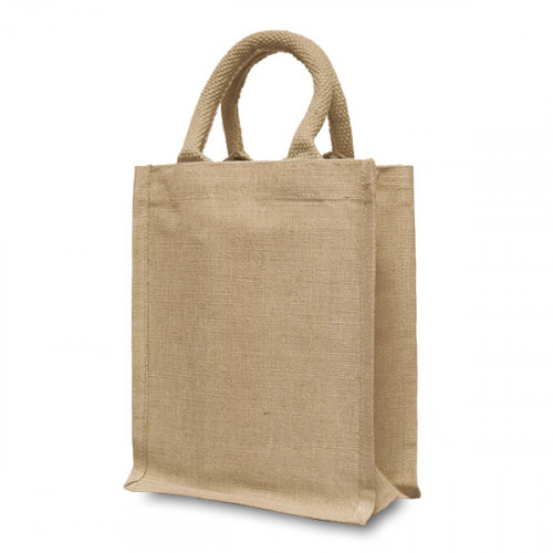 Natural hemp/cotton Handy Shopper 21x26cm- front