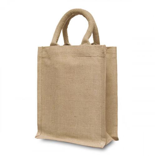 Natural hemp/cotton Handy Shopper 21x26cm- front