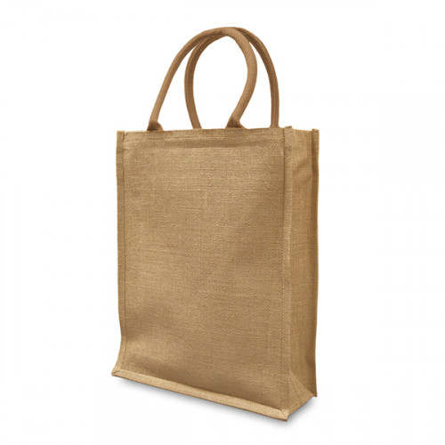 Natural jute Shopper 30x40cm with 12 cm Gusset- front