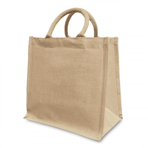 Natural hemp/cotton Boxy Shopper 30x30cm- front