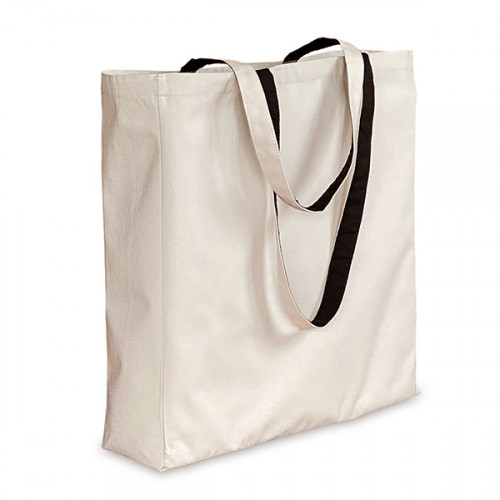 Natural canvas 8oz Shopper 38x43x10cm with Black Lining