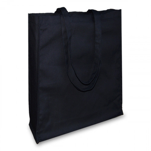 Black canvas 12oz Shopper 38x43x10cm Long Handles&Gusset