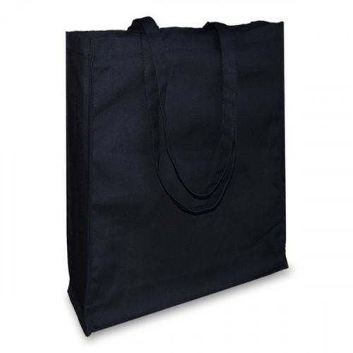 Black canvas 12oz Shopper 38x43x10cm Long Handles&Gusset