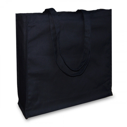 Black canvas 12oz Shopper 43x38x10cm Long Handles&Gusset