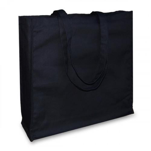 Black canvas 12oz Shopper 43x38x10cm Long Handles&Gusset