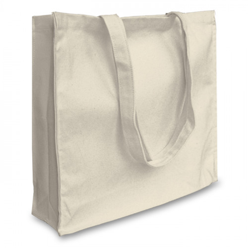 Natural canvas 12oz Shopper 43x38x10cm Long Handles&Gusset