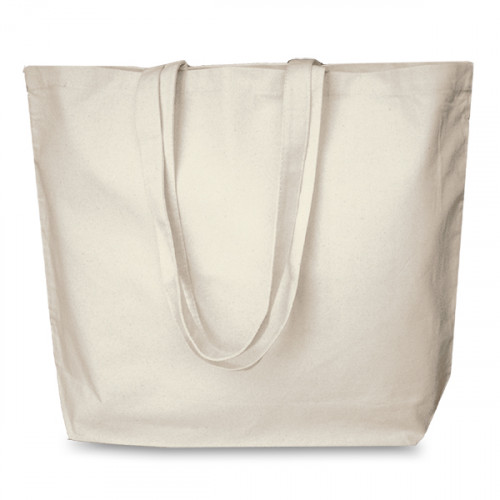 Natural canvas 8oz Super Shopper 52x40cm Long Handles. Base13cm