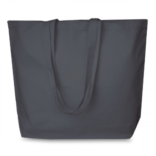 Slate Grey canvas 8oz Super Shopper 52x40cm Long Handles. Base13cm