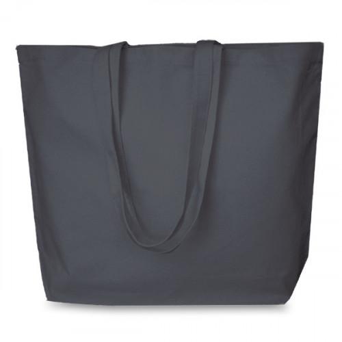 Slate Grey canvas 8oz Super Shopper 52x40cm Long Handles. Base13cm