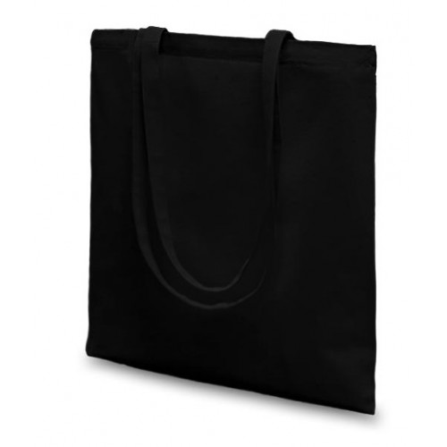 Black canvas 8oz Carrier 36x39cm Long Handles