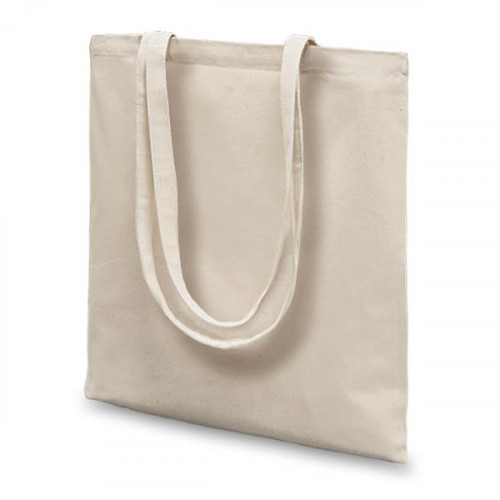 Natural canvas 8oz Carrier 36x39cm Long Handles- front
