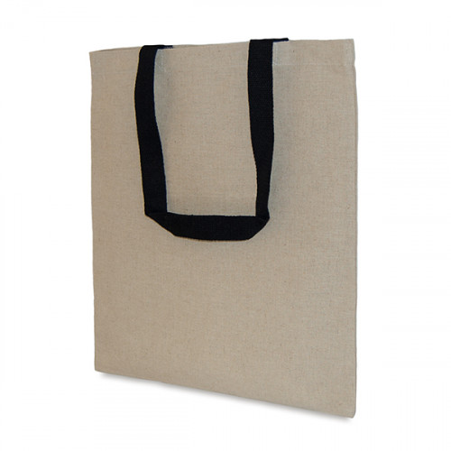 Natural hemp/cotton Carryall 38x43cm long handles- front