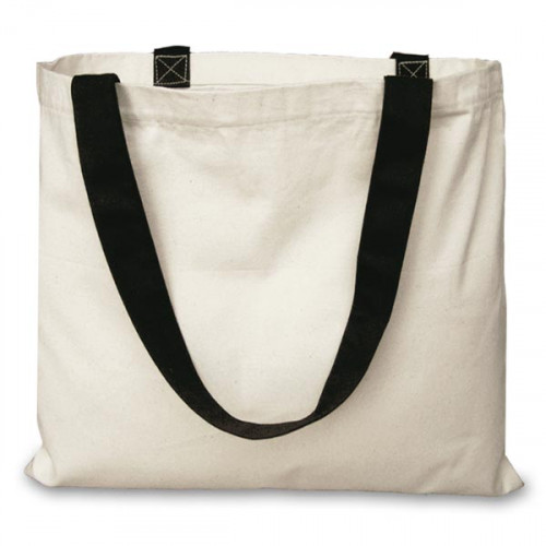 Natural canvas 8oz Carrier 51x39cm Long black Handles