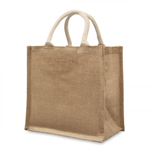 Natural Jute Box Bag 32x32x20cm