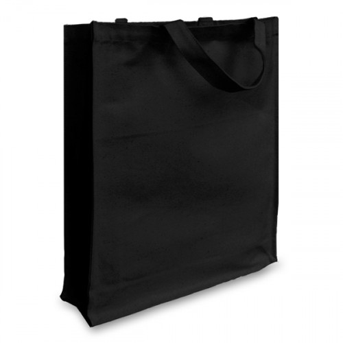 Black canvas 12oz Shopper 38x43x10cm Short Handles&Gusset