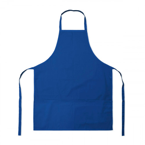 Blue polycotton Apron 70x90cm 3 pockets