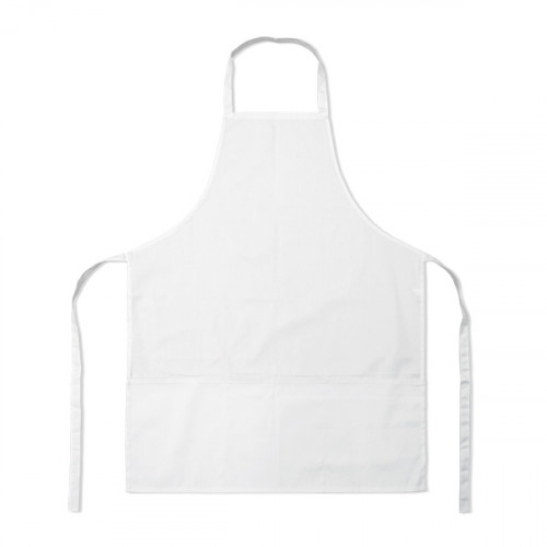 White polycotton Apron 70x90cm 3 pockets