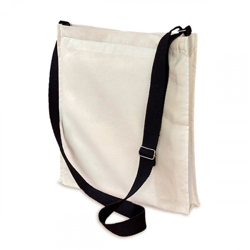 Natural canvas 8oz Crossbody Bag 32x36x5cm Long adjustable strap & Zip