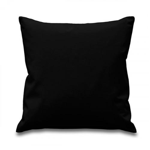 Black canvas 8oz Cushion Cover 45x45cm square, concealed zip - front