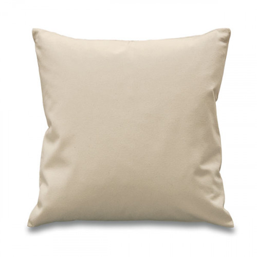 Natural canvas 8oz Cushion Cover 45x45cm square, concealed zip - front