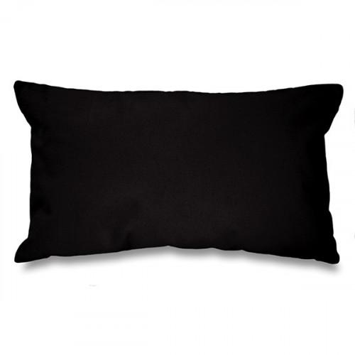 Black canvas 8oz Cushion Cover 51x30cm, concealed zip - front