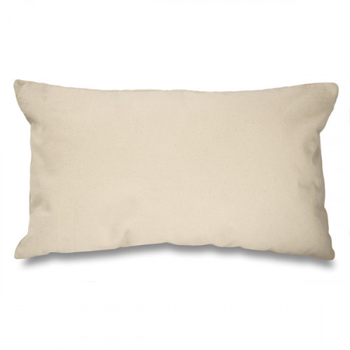 Natural canvas 8oz Cushion Cover 51x30cm, concealed zip - front