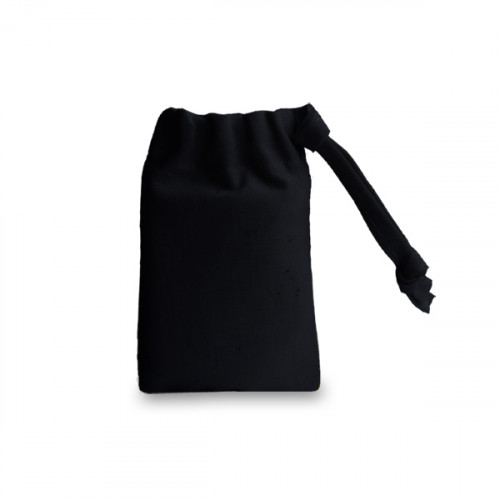 Black cotton Drawstring Bag 6x9cm
