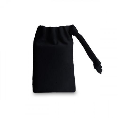 Black cotton Drawstring Bag 6x9cm