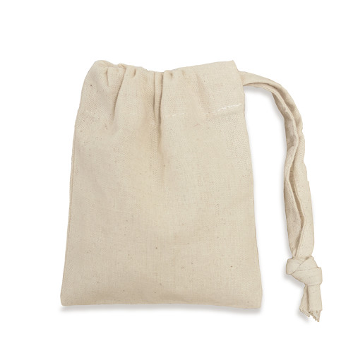 Value Natural cotton Drawstring Bag 10x13cm