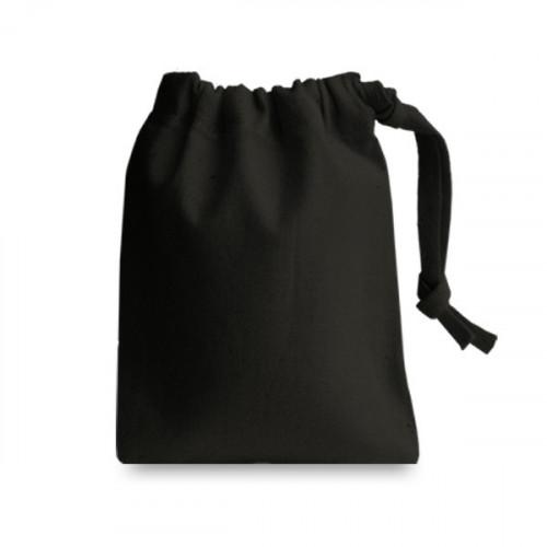 Black cotton Drawstring Bag 10x13cm