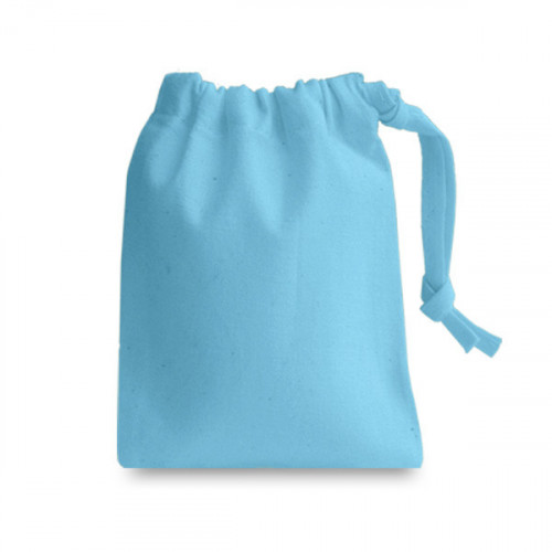 Forgetmenot cotton Drawstring Bag 10x13cm