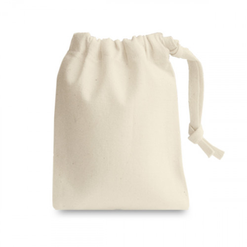 Natural cotton Drawstring Bag 10x13cm