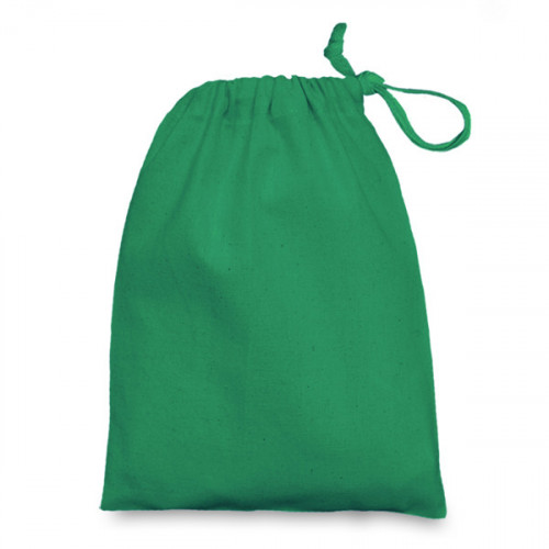Emerald cotton Drawstring Bag 15 x 20cm