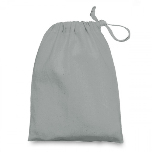 Grey cotton Drawstring Bag 15x20cm